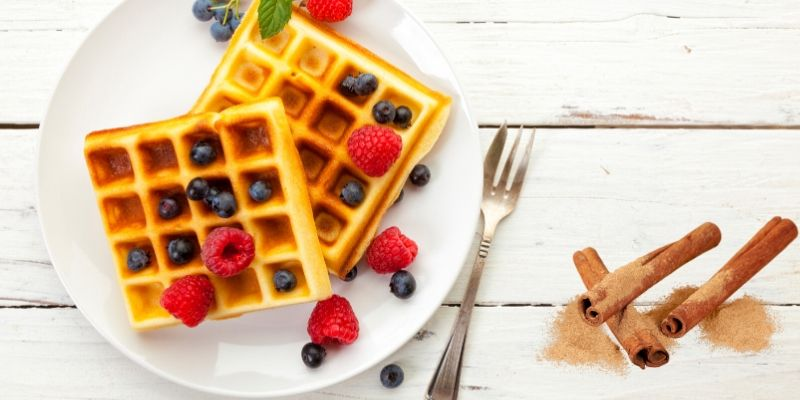 Best high protein keto waffles for vegans | Recipe card